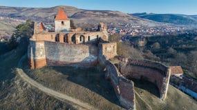 Die Slimnic-Festung Transylvanien, Rumänien stockfoto