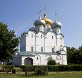 Die Smolensky Kathedrale im Novodevichy Kloster Moskau, Russland Lizenzfreie Stockfotos