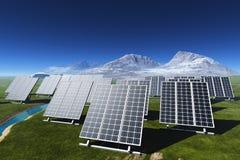 Die Solarbatterie lizenzfreie abbildung