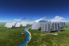 Die Solarbatterie stock abbildung