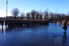 Die Soldaten der österreichischen Armee auf dem Schutz der Ehre nahe dem Hofburg-Palast lizenzfreies stockbild