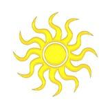 Die Sonne lizenzfreie abbildung