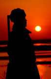 Die Sonne, die in den Osten steigt stockfoto