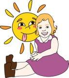 Die Sonne ist glänzendes Kind Lizenzfreies Stockbild