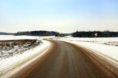 Die Sonne scheint das Gleis, Schnee, Holz schnee Stockbild