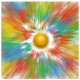 Die Sonne und die farbigen Strahlen lizenzfreie stockfotografie