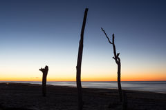 Die Sonnenaufgänge über dem Atlantik Lizenzfreie Stockfotos