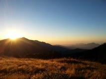 Die Sonnenaufgangansicht in Nepal Stockfoto