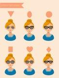 Die Sonnenbrille-Formen f der Frauen Stockfoto