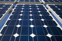 Die Sonnenkollektoren Lizenzfreies Stockfoto