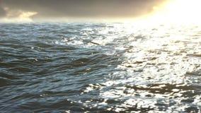 Die Sonnensätze im Ozean stock video