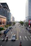 Die Sonnenuntergangansicht der Taipei-Straßenansicht Lizenzfreie Stockfotos