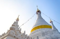 Die Sonnenuntergangzeit bei Wat Phra That Doi Kong MU Mae Hong Son Stockbild