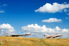Die sowjetischen Militärflugzeuge Stockfotografie
