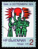 Die sowjetischen Soldaten empfangen, die 30 Jahre die Regierung serie der Leute, circa 1974 lizenzfreies stockbild