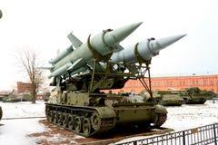 Die sowjetischen und russischen Militärtechniken. Lizenzfreies Stockbild