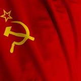 Die Sowjetunion-Markierungsfahnen-Nahaufnahme Lizenzfreies Stockfoto