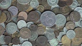 Die Sowjetunions-Münzen stock video