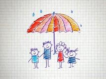 Die soziale Sicherheit der Familie Stockbild