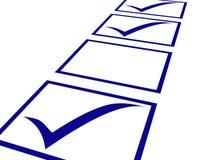 Die Spalte des Fragebogens. Stockbild