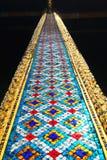 Die Spalte des Tempels des Smaragdbuddhas. Thailand Stockfotografie