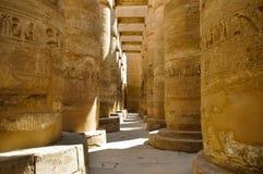 Die Spalten im Karnak Tempel, Ägypten Lizenzfreies Stockfoto