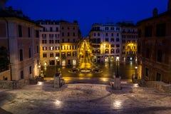 Die Spanisch-Schritte in Rom. Italien. lizenzfreie stockfotografie