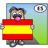 Die spanische Markierungsfahne lizenzfreie stockfotografie