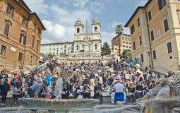Die spanischen Jobstepps, gesehen von Piazza di Spagna stockfoto