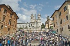 Die spanischen Jobstepps, gesehen von Piazza di Spagna lizenzfreies stockfoto