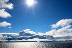 Die Sparkly Antarktis Lizenzfreies Stockfoto