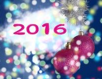Die Spielwaren des neuen Jahres auf dem gezogenen Hintergrund Lizenzfreie Stockfotos