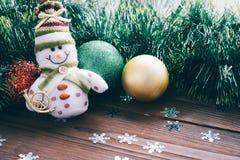 Die Spielwaren und die Dekorationen des neuen Jahres Lizenzfreies Stockbild