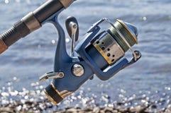 Die spinnende Spule für die Fischerei Lizenzfreies Stockbild