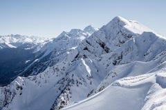 Die Spitze des Berges Stockfotos