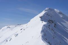 Die Spitze des Berges am sonnigen Tag Lizenzfreies Stockbild