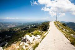 Die Spitze des Bergs Lovcen Stockfoto