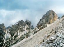 Die Spitze von Catinaccio Antermoia dolomites Stockbilder