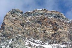 Die Spitze von Matterhorn Lizenzfreie Stockfotos
