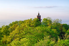 Die Spitze von Sleza-Berg, Polen Stockfotos