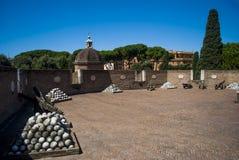 Die Spitze von theCastel Sant'Angelo, Vatikan, Rom Lizenzfreies Stockbild