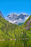 Die Spitzen von Misty Fjords Lizenzfreie Stockbilder