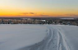 Die Spur im Schnee Lizenzfreies Stockbild