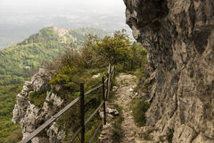 Die Spur Nord zum Campo-dei Fiori Stockbild