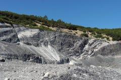 Die Spuren zur Tätigkeit vom vulcan stockfotos