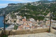 Die Städte der Amalfi-Küste, in Italien stockfoto
