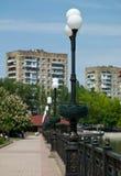 Die städtische Landschaft. Donetsk stockbild