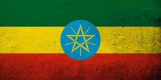 Die Staatsflagge der Demokratischen Bundesrepublik Äthiopien Kann als Postkarte verwendet werden lizenzfreie abbildung