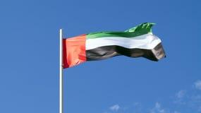 Die Staatsflagge des Landes uae Lizenzfreie Stockbilder