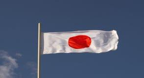 Die Staatsflagge des Landes von Japan Lizenzfreies Stockfoto